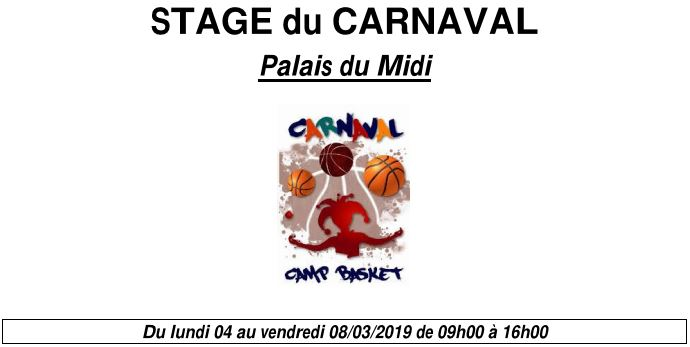 Stage carnaval 2019